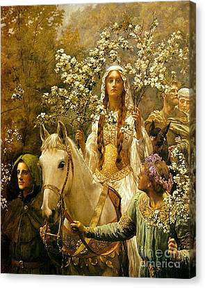 Queen Guinevere - Maying Canvas Print by Pg Reproductions