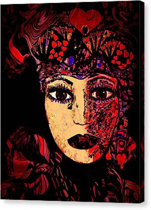 Queen Of Hearts Canvas Print by Natalie Holland