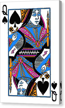 Queen Of Spades - V3 Canvas Print by Wingsdomain Art and Photography