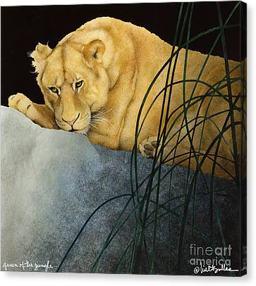 Queen Of The Jungle... Canvas Print by Will Bullas