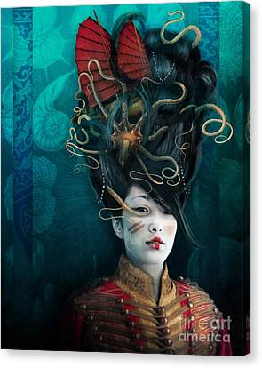 Queen Of The Wild Frontier Canvas Print by Aimee Stewart