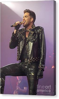 Queen Singer Adam Lambert Canvas Print by Front Row  Photographs