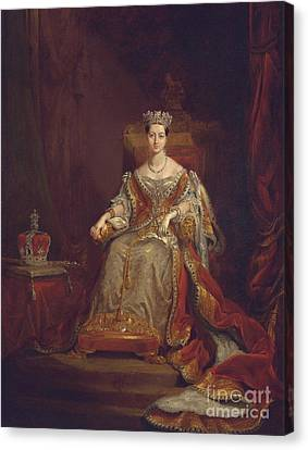 Queen Victoria Canvas Print by Sir George Hayter