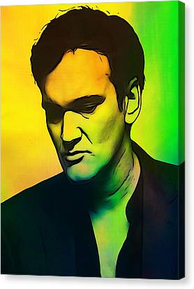 Quentin Tarantino  Canvas Print by Dan Sproul