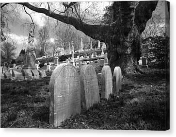 Quiet Cemetery Canvas Print by Jennifer Ancker