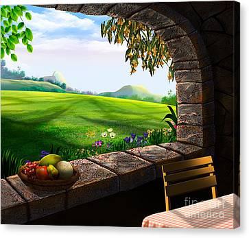 Quiet Corner Canvas Print by Bedros Awak