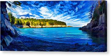 Quiet Cove At Cutler Canvas Print by Bill Caldwell -        ABeautifulSky Photography