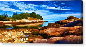 Quiet Cove At Great Wass Canvas Print by Bill Caldwell -        ABeautifulSky Photography