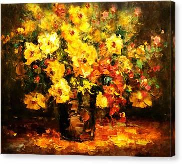 Quiet Desires - Impressionism  Canvas Print by Georgiana Romanovna