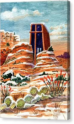 Quiet Snowfall  Sedona  Arizona Canvas Print by Marilyn Smith