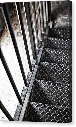 Quiet Stairwell Canvas Print by Karol Livote