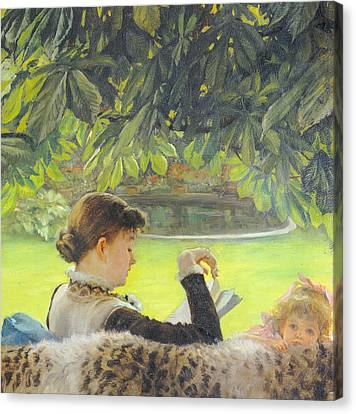 Quiet Canvas Print by Tissot