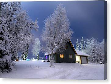 Quiet Winter Times Canvas Print by Ron Day