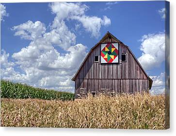 Quilt Barn - Double Windmill Canvas Print by Nikolyn McDonald