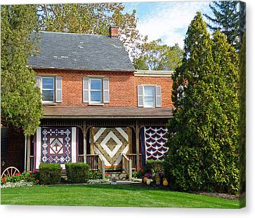 Quilt Maker's House Canvas Print by Jean Hall