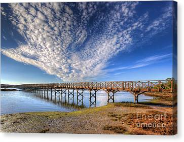 Quinta Do Lago Wooden Bridge Canvas Print by English Landscapes