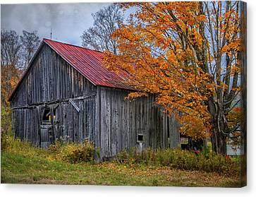 Quintessential Vermont - Rustic Barn Series  Canvas Print by Thomas Schoeller