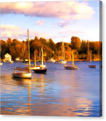Quissett Evening Canvas Print by Michael Petrizzo