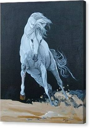 Quitapenas On The Run Canvas Print by Janina  Suuronen