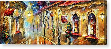 Quite Morning Canvas Print by Leonid Afremov