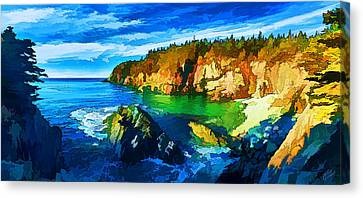 Quoddy Head Cove Canvas Print by ABeautifulSky Photography