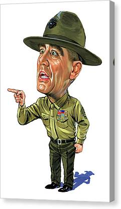R. Lee Ermey As Gunnery Sergeant Hartman Canvas Print by Art
