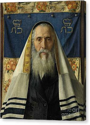 Rabbi With Prayer Shawl Canvas Print by Celestial Images