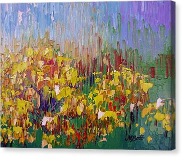 Rabbit Brush Abstracted Canvas Print by Margaret Bobb