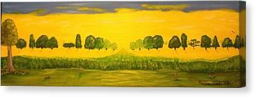 Rabbits Love The Sun Canvas Print by Scott Wilmot