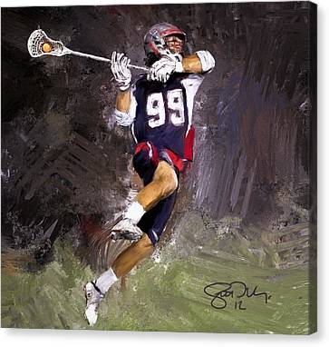 Rabil Lacrosse Canvas Print by Scott Melby