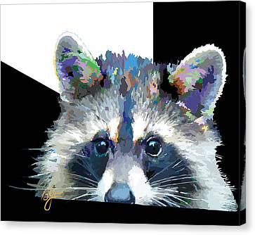 Raccoon Losp Canvas Print by Bonnie Griest