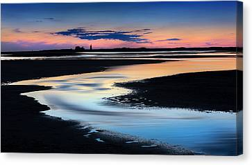 Race Point Low Tide Sunset Canvas Print by Bill Wakeley