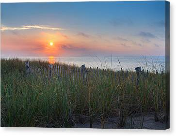 Race Point Sunset Canvas Print by Bill Wakeley