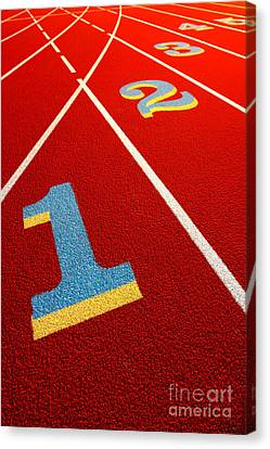 Race Track  Canvas Print by Olivier Le Queinec