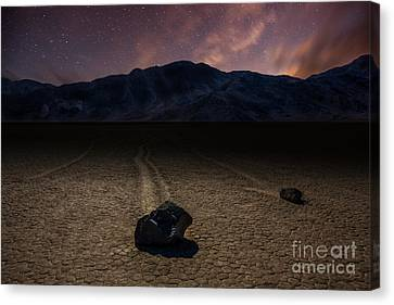 Racetrack Playa Canvas Print by Deryk Baumgaertner
