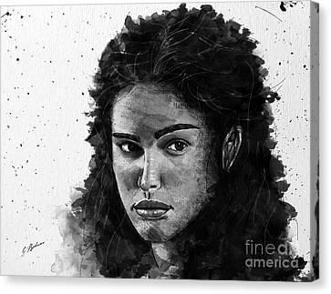 Rachel In Waiting Canvas Print by Gary Bodnar