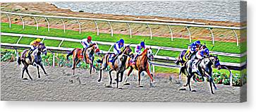 Racing Horses Canvas Print by Christine Till