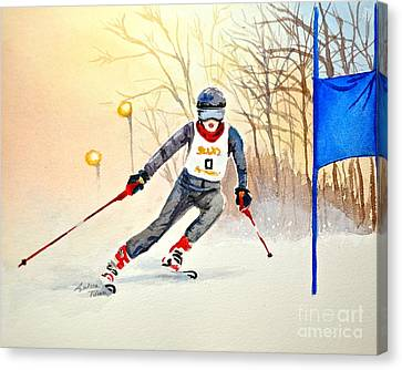 Racing The Sun Canvas Print by Andrea Timm