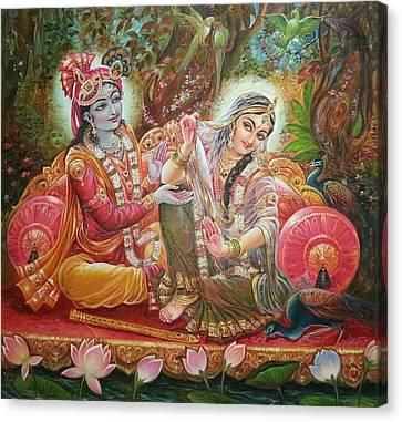 Radha Krishna Canvas Print by Mayur Sharma