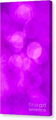 Radiant Orchid Abstract Canvas Print by Jan Bickerton