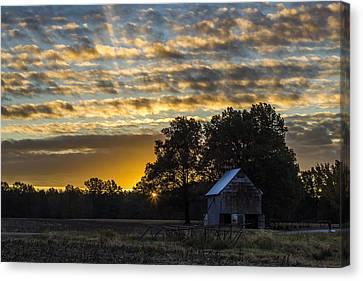 Radiating Sunrise Canvas Print by Amber Kresge