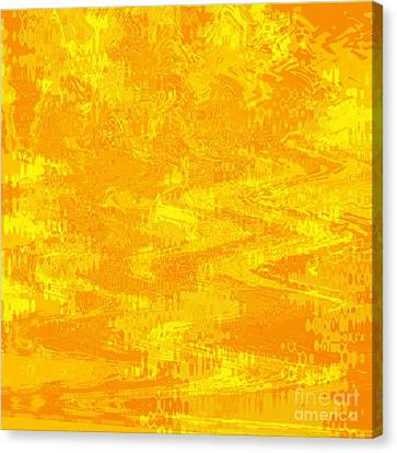 Radiating Sunshine Colors - Abstract Art Canvas Print by Carol Groenen