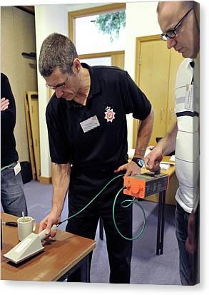 Radiation Emergency Response Training Canvas Print by Public Health England