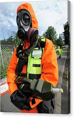 Radiation Emergency Response Worker Canvas Print by Public Health England