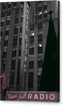 Radio City Christmas Tree Canvas Print by Dan Sproul