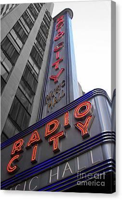 Radio City Canvas Print by Dan Holm