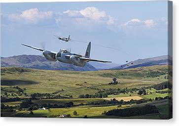 Raf Mosquito - Train Buster Canvas Print by Pat Speirs