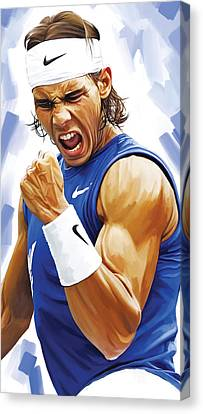 Rafael Nadal Artwork Canvas Print by Sheraz A