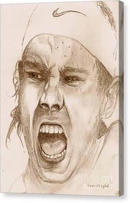 Rafael Nadal Canvas Print by Nan Wright