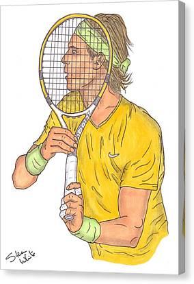 Rafael Nadal Canvas Print by Steven White